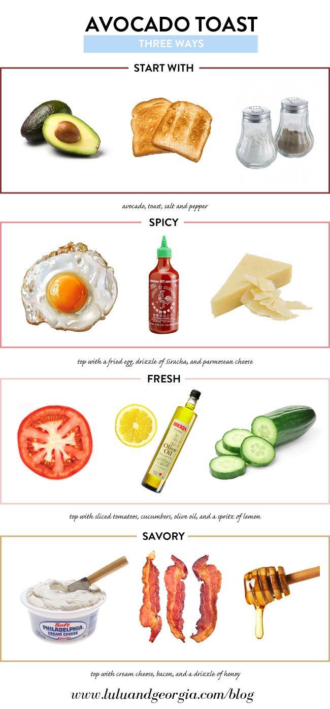 Avocado Toast 3 Ways #healthyeating #avocado