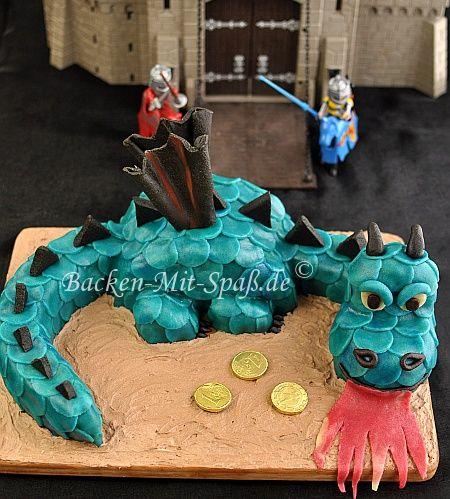 Drachentorte Rezept Kinder Geburtstag Drachentorten Kuchen