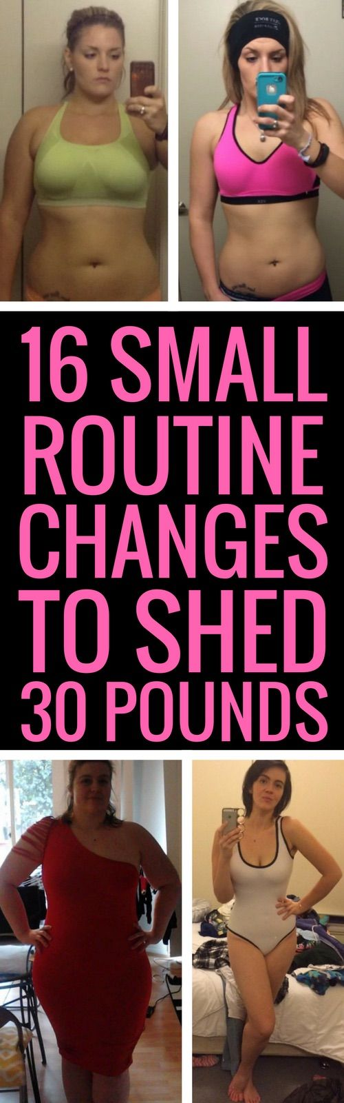 16 small changes to your daily routine to lose weight faster.
