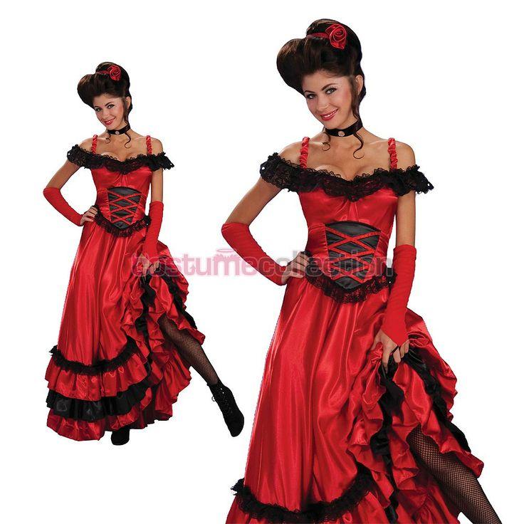 Adults Saloon Girl Wild Western Costume