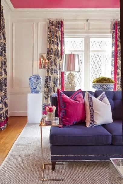 South Shore Decorating Blog: Preppy Passion: Navy Blue And Hot Pink Part 92