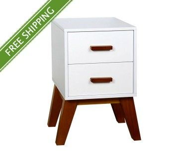 Scandinavian Bedside Table Matt White