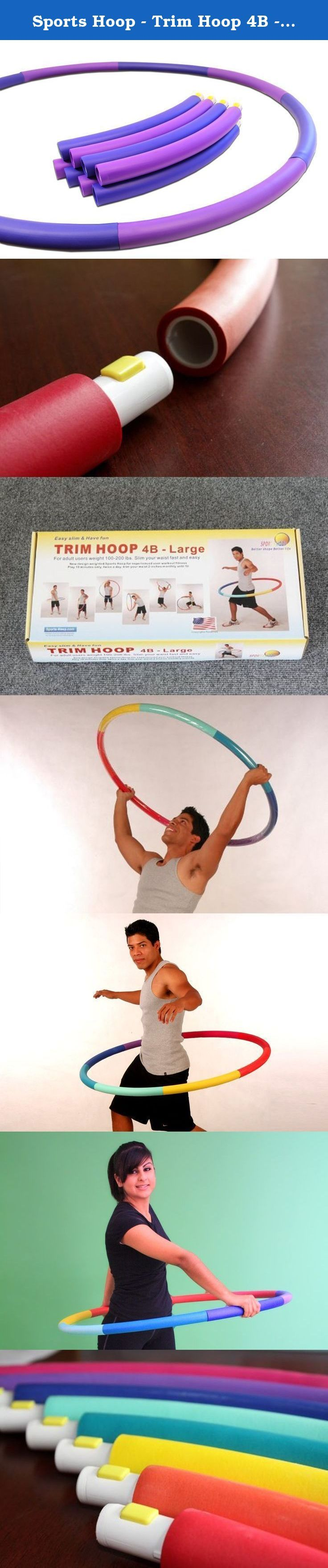 """Sports Hoop - Trim Hoop 4B - 3.9lb (Dia.41"""") Large [Select Colors], Weighted Hula Hoop for Workout with 50 minutes Workout Lesson DVD. The Trim Hoop® 4B is the largest Trim Hoop® specifically designed for exercise purposes and is a perfect hoop for beginners looking to start a new healthy lifestyle or stay in shape. Adults 100-200lb (45-90kg) can use the Trim Hoop® 4B for an effective weight loss and toning regime. The foam padding and high-quality, durable plastic make it both easy and..."""