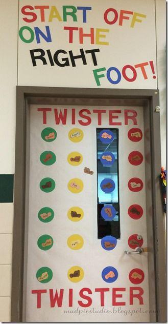 Twister classic board game theme bulletin board