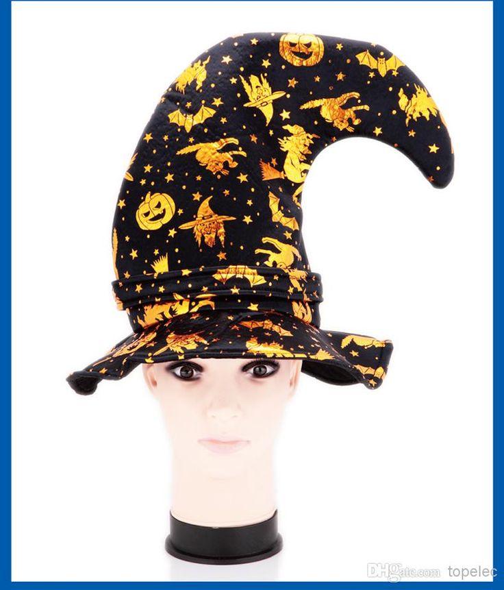 halloween trajes cap halloween adereços festa crianças bruxas abóbora assistente bend chapéus menina ouro prata