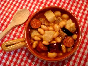 Fabada - rich Spanish bean stew