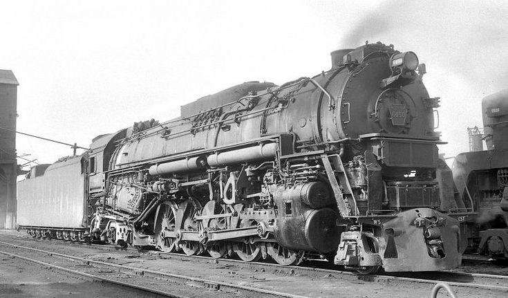 Pennsylvania R.R. #6450 Class J1 2-10-4 Texas. Built at ...