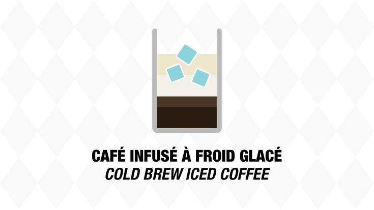 Notre version du café glacé faite avec du café infusé à froid, encore plus rafraîchissante et goûteuse.