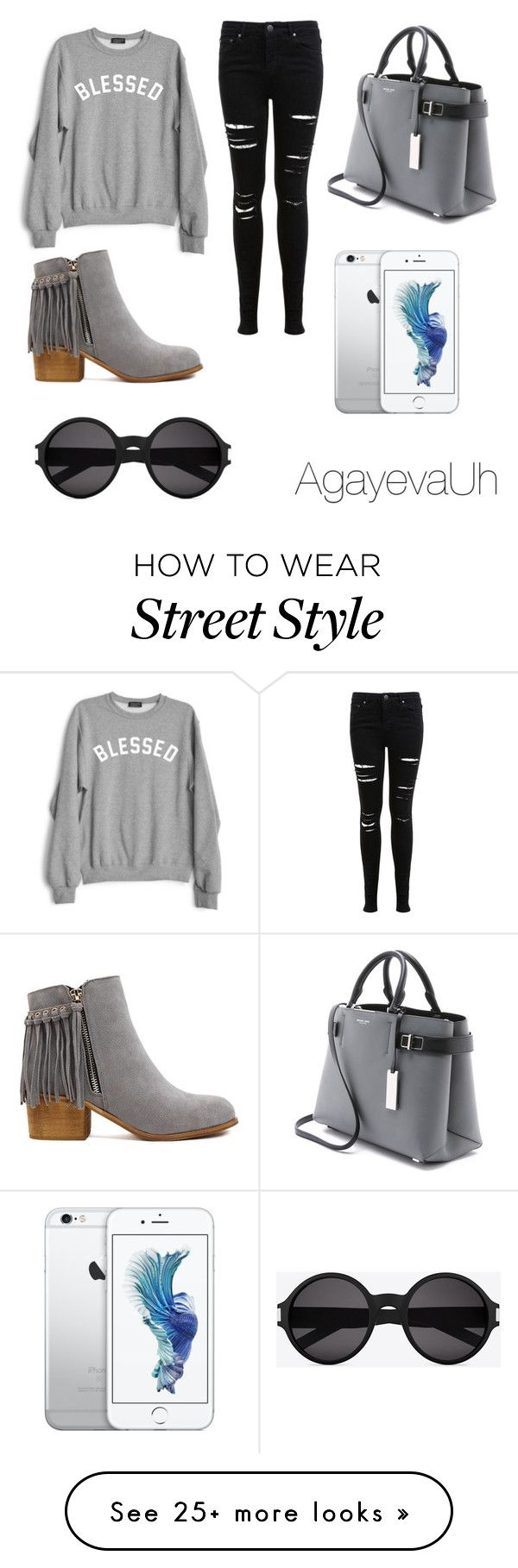"""""""Street style 14."""" by agayevauh on Polyvore featuring Private Party, Miss Selfridge, Michael Kors and Yves Saint Laurent"""
