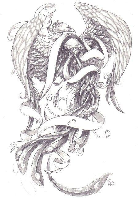 Phoenix Drawing By James Garza