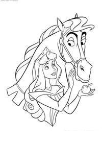 Принцесса Аврора - скачать и распечатать раскраску. Раскраска Раскраска Аврора распечатать, раскраски Дисней распечатать