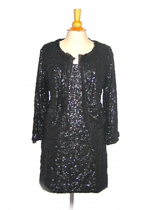 Ambika pailletten jurk & jasje  size L price 74,90