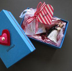 Hier kommt das Bargeld als kleine Mitgift für das frischgetraute Brautpaar.