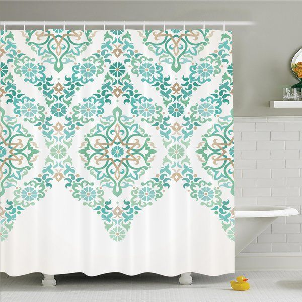 Shower Curtain Is Printed On 100 Woven Polyester Construction For