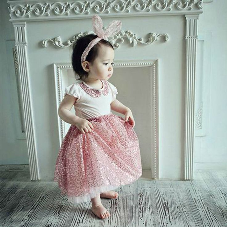 >> Click to Buy << 2016 Summer Baby Girls Sequins Skirt Suits Fashion T-shirt & Lace Bubble Skirt Set Kids Cute Princess Ankle-Length Casual Skirt #Affiliate