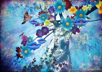 """""""Enchanted Aqua"""" by Cheryl Petersen www.tuskgallery.com.au"""