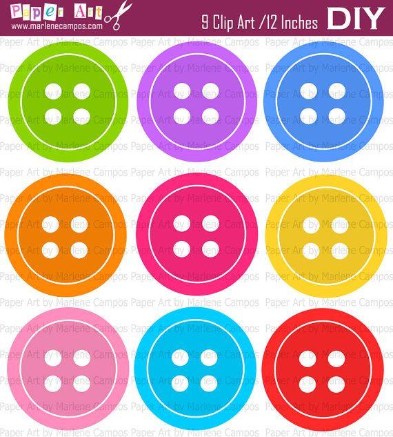 instant download button digital clip art bright by paperartbymc $ 4 99