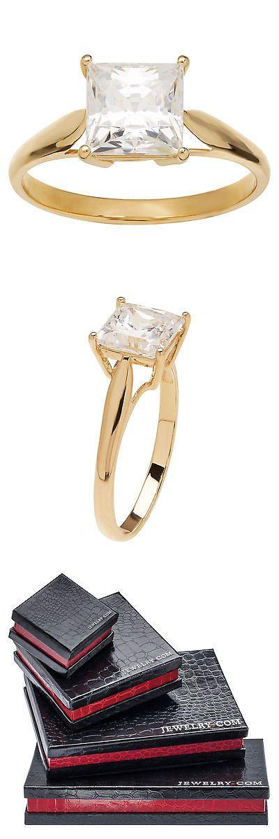 Other Fine Rings 177030: 3Ct Cubic Zirconia Engagement Ring In 10K Gold -> BUY IT NOW ONLY: $99.0 on eBay!