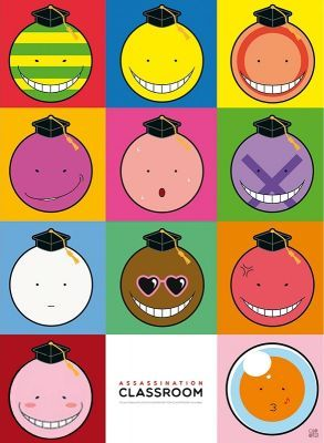 """Poster: Assassination Classroom """"Koro Gesichter"""""""