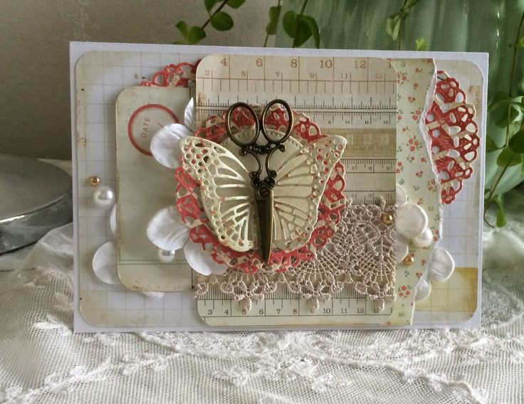 Blomsterbox card with butterfly
