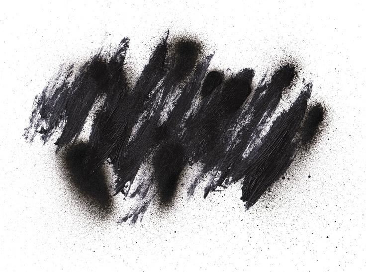 black splattered