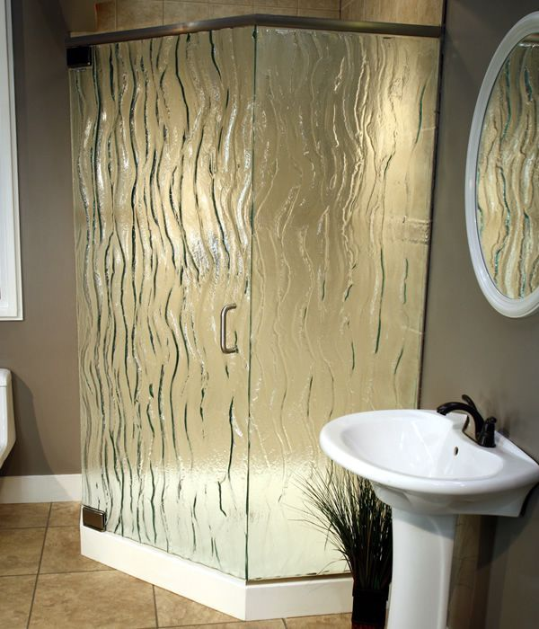 Frosted And Textured Glass Options For Shower Doors Shower