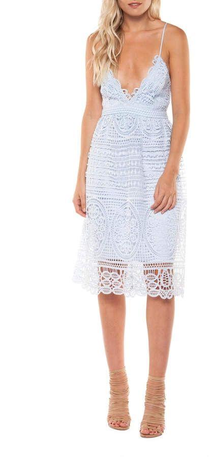ee0a18c3fa Dex Strappy Lace Midi Dress