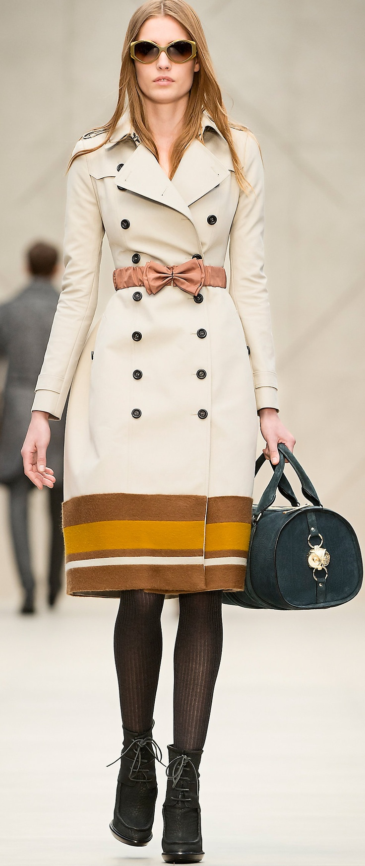 love this! cute details with the bow and stripes!  Burberry | TRENCH COATS