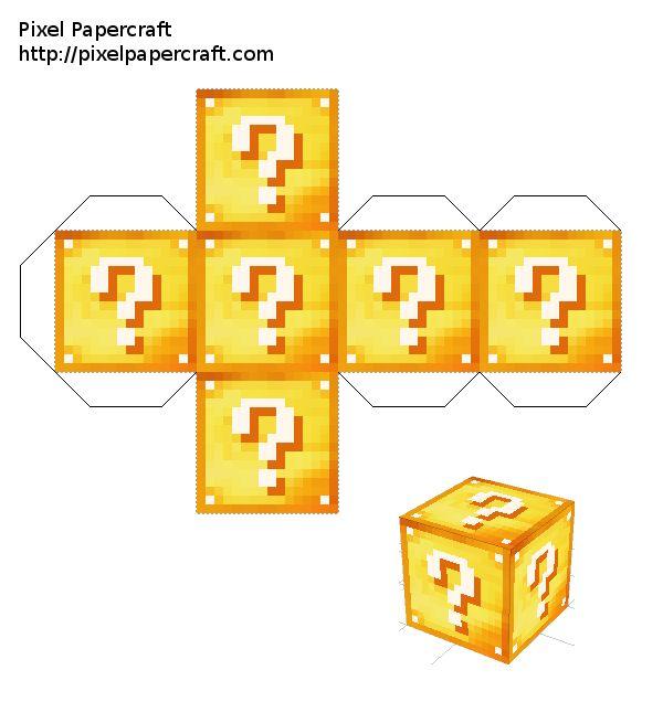 картинки майнкрафт как делать блоки из бумаги майнкрафт