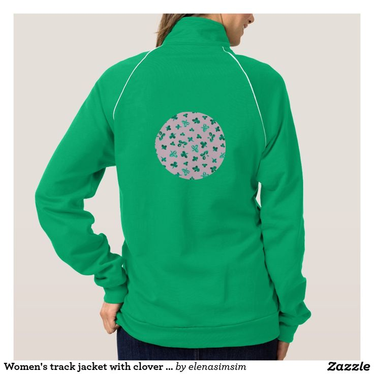Women's track jacket with clover leaves