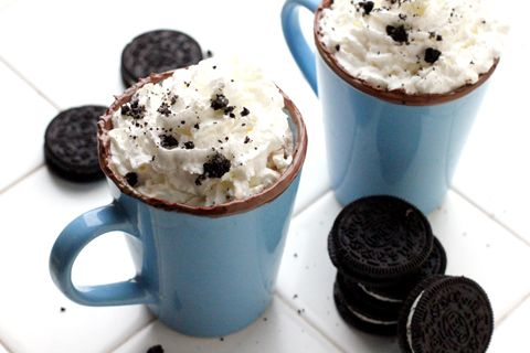 Oreo Ice Cream Cocoa....If you're looking for a splendidly warm drink that invites the Holidays right into your heart, you're going to love this cocoa