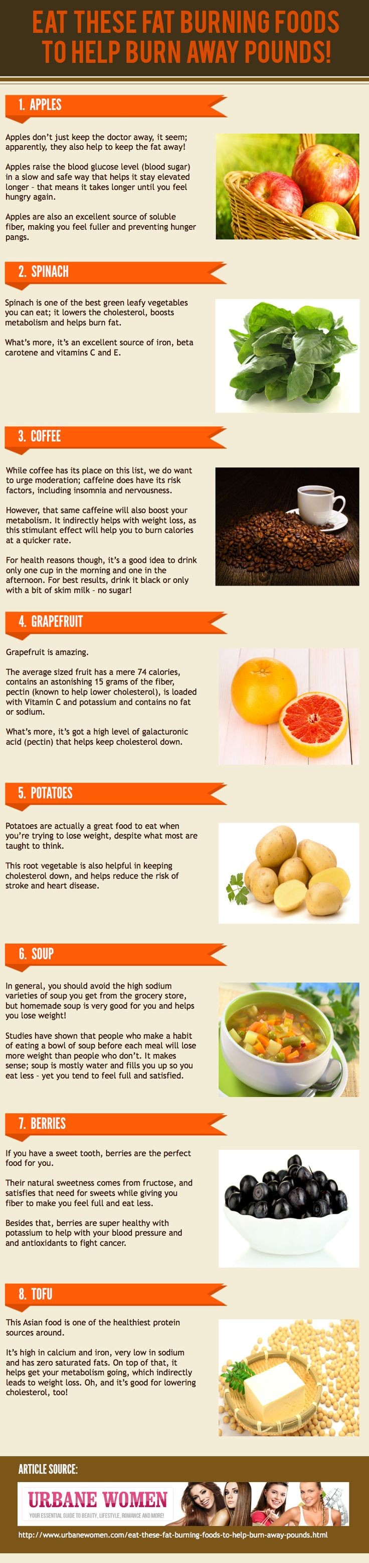 Eat These Fat Burning Foods To Help Burn Away Pounds! #Infographic