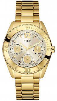 Guess Ρολόι Guess πολλαπλών ενδείξεων με χρυσό μπρασελέ W0633L1