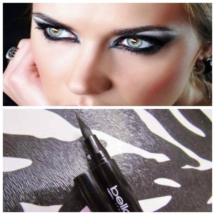 BELLA OGGI  BLACK MERKER EYELINER  1.6g  The Bella Oggi Eyeliner is a liquid eyeliner with an intense deep black finish which helps to give depth to any look. Quick drying and easy to apply the Eyeliner has long lasting stay power. It fixes the color in place with a natural matte finish.  The fine tip bristle brush gives fine line precision and ease. Perfect for lining the inner eye corner of the eyelid or creating straight line winged eyes. Made in Italy.
