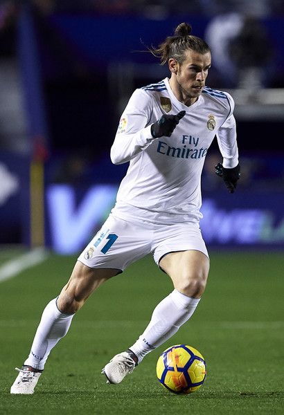 Gareth Bale of Real Madrid runs with the ball during the La Liga match between Levante and Real Madrid at Ciutat de Valencia on February 3, 2018 in Valencia, Spain.