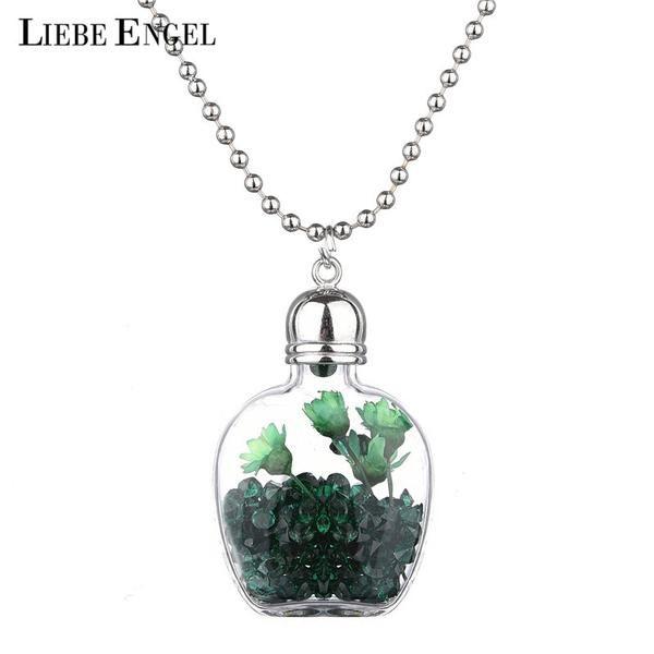 CL DRIED FLOWER bottle ball pendant