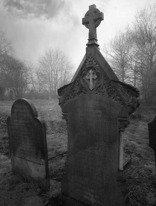Cemeteries Ghosts Graveyards Spirits:  #Headstones.