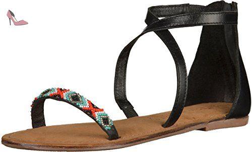 Tamaris 1-28143-26 femmes noir cuir Sandale, EU 38 - Chaussures tamaris (*Partner-Link)