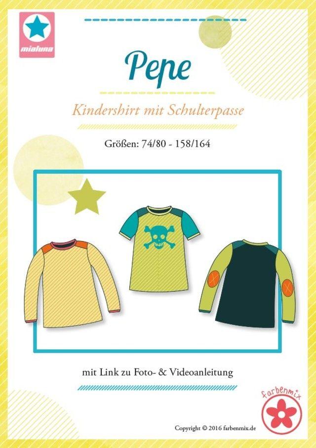 Pepe, Papierschnittmuster - farbenmix Online-Shop - Schnittmuster, Anleitungen zum Nähen