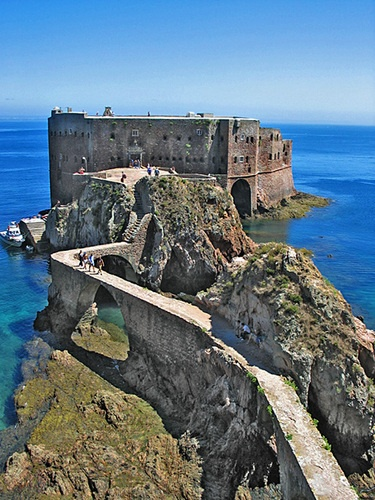 Berlenga Island, 10k offshore from Peniche, Portugal.  The path leads to the Forte de São João Baptista, a Manueline military fortress built in 1502.