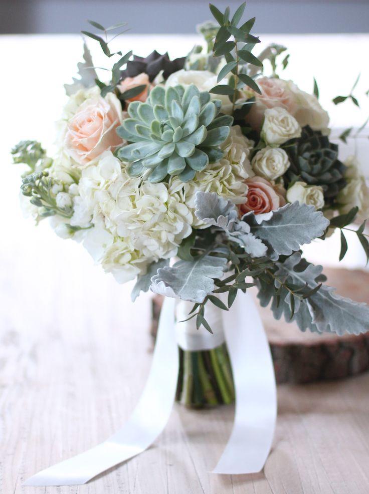 Eucalyptus And Hydrangea Bouquet