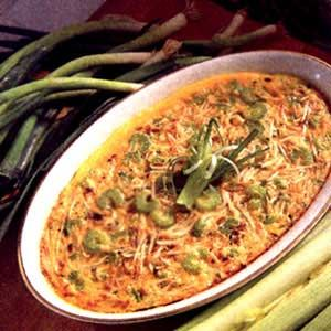 Egg Foo Young casserole, Happy Chinese New Year! ((Wonder if I can use vegetable broth...))