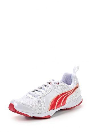Спортивные женские кроссовки от Puma белого цвета. Модель выполнена из сетчатого текстиля и усилена вставками из искусственного лака. Детали: текстильная подкладка, шнуровка, резиновая подошва. http://j.mp/1pPxImN