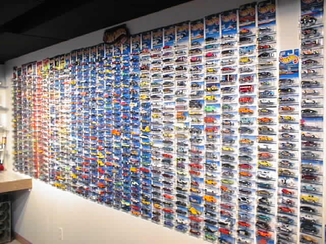 Hot Wheels wall in the Man Cave