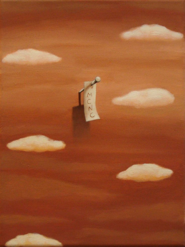 Nubes y mensaje (2012) - Óleo sobre tela (30x40)