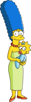"""Marge and Maggie Simpson from """"The Simpsons: Tapped Out"""""""