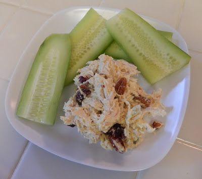 theworldaccordingtoeggface: Post Weight Loss Surgery Menus: Curry Chicken Salad #lunch #lowcarb #protein #healthy