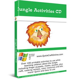 Preschool Jungle Theme Activity CD. Recipes, Games, Printables and much more for a Jungle based lesson plan. $24.95 Instant Download   *Order & Download Yours Today!  http://www.preschoollearningonline.com/rainy-day-activities/jungle-theme-activities-for-kids.html