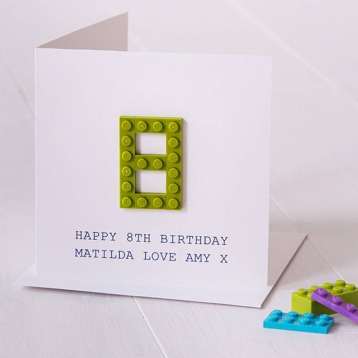 A fun and completely unique birthday card with your choice of age made from new and reclaimed Lego bricks.Choose your own message for the front of this card that is completely personal to you! Most popular messages printed on the cover are 'Happy 5th Birthday Leo x' or 'Happy building this birthday love Joanna'. When typing your message into the box, please check spelling, the text will appear in upper case and we will print exactly as the text appears. If you have any questions, please…
