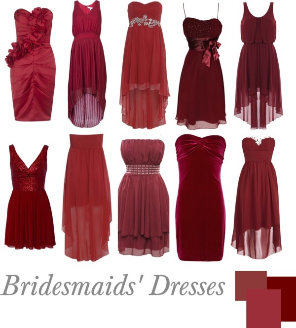 """""""Bridesmaids' Dresses   Wine"""" by pinkrubbersoul on Polyvore"""